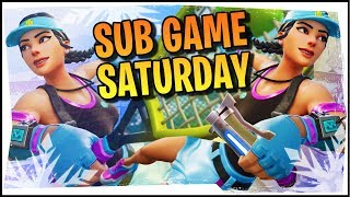 Hysteria | Fortnite Battle Royale - Sub Games Saturdays! With the New Volley Girl Skin