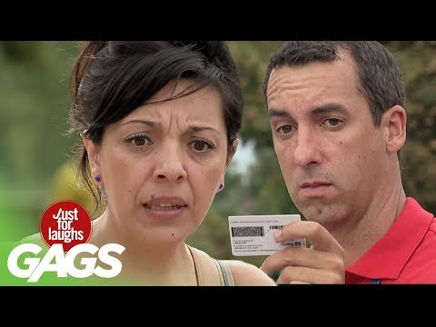 Youtube filmek - Ripping People's IDs in Half! - Just For Laughs Gags
