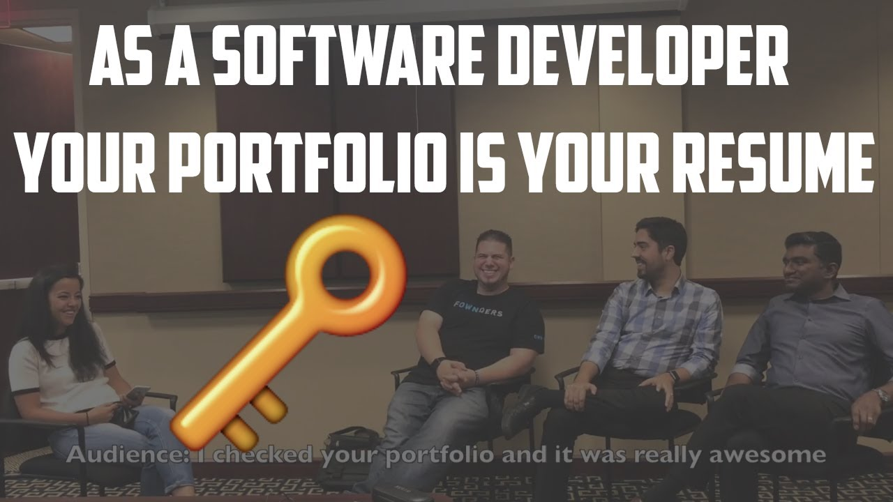 As a Software Developer your Portfolio IS your Resume - YouTube