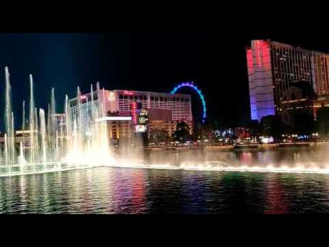 Night View of Bellagio Fountain| Ground View |Las Vegas|Dec 2019