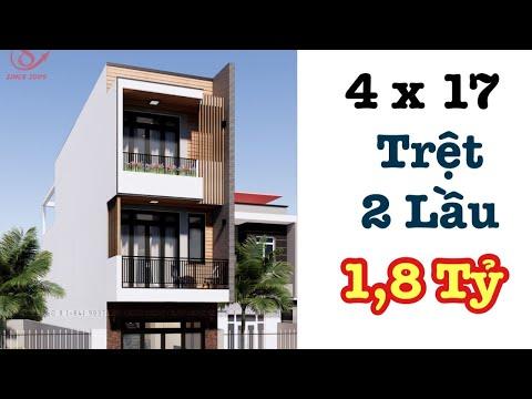 Hiện Đại, Sang Trọng - 4x17 - Mẫu Nhà Năm 2021   Xây Dựng Nhà Phố