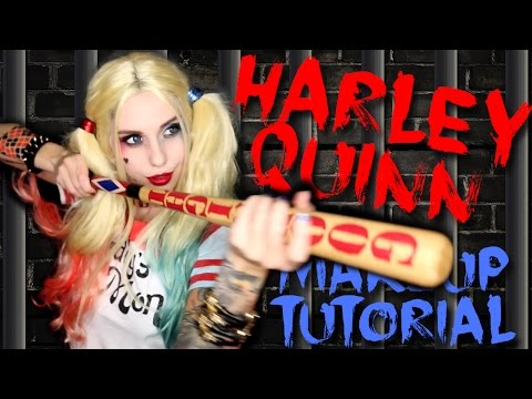 HARLEY QUINN SUICIDE SQUAD MAKEUP TUTORIAL  Halloween 2015
