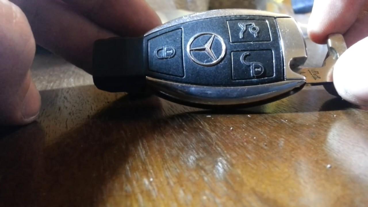 How To Take Apart Mercedes Benz Key Fob