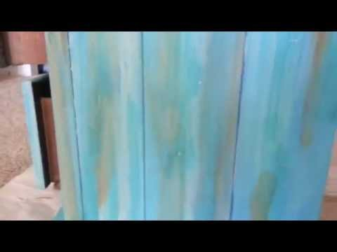 DIY HOW TO MAKE WASHED BEACHY STYLE FURNITURE  YouTube