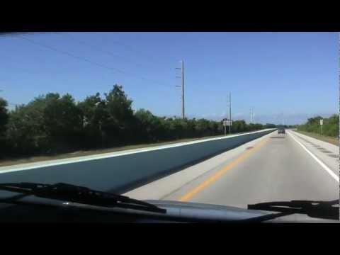 Driving Overseas highway, upper FL Keys to Miami