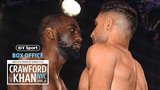 Crawford refuses to move! 😳 Final face-off between Terence Crawford and Amir Khan