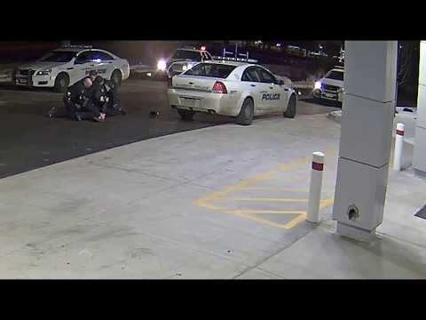 RAW: Police tackle, stomp woman who had driven shooting victim to urgent care