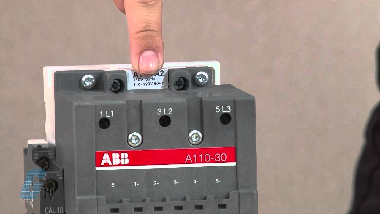 abb a line series ac non reversing iec contactor youtube