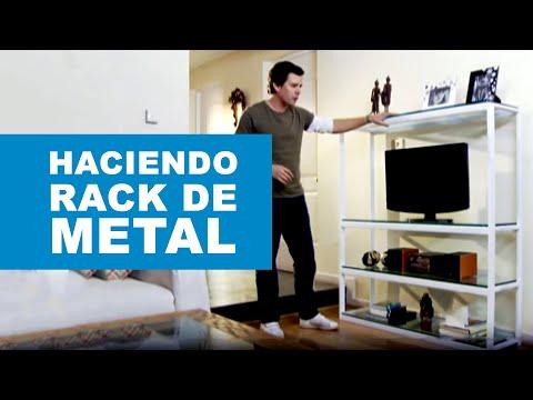 C mo hacer un rack de metal youtube for Zapateras de metal