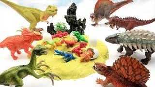 Jurassic World Dinosaurs Were Born In Dinosaur Eggs. Who'S Dinosaur Eggs? Fun Toys For Kids!