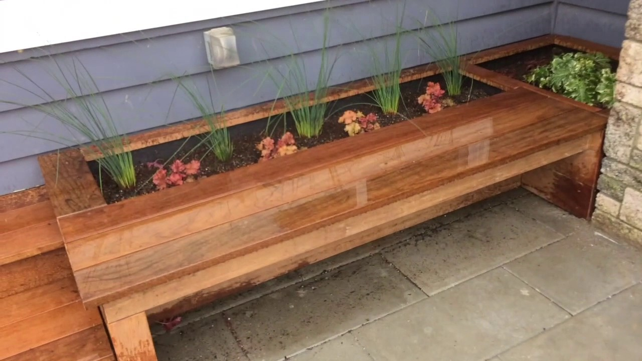 Ipe Hardwood Deck Planters And Benches