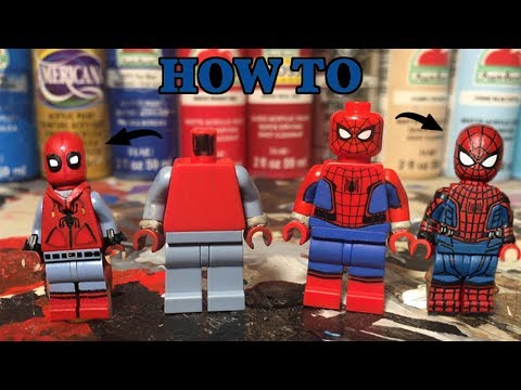 HOW TO MAKE A CUSTOM LEGO SPIDERMAN (TUTORIAL)