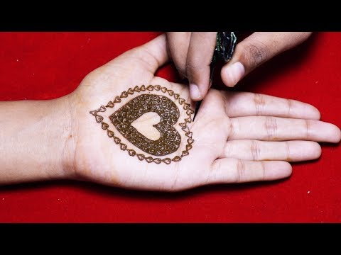 Beautiful Heart Mehndi Design For Hands Latest Mehndi Designs
