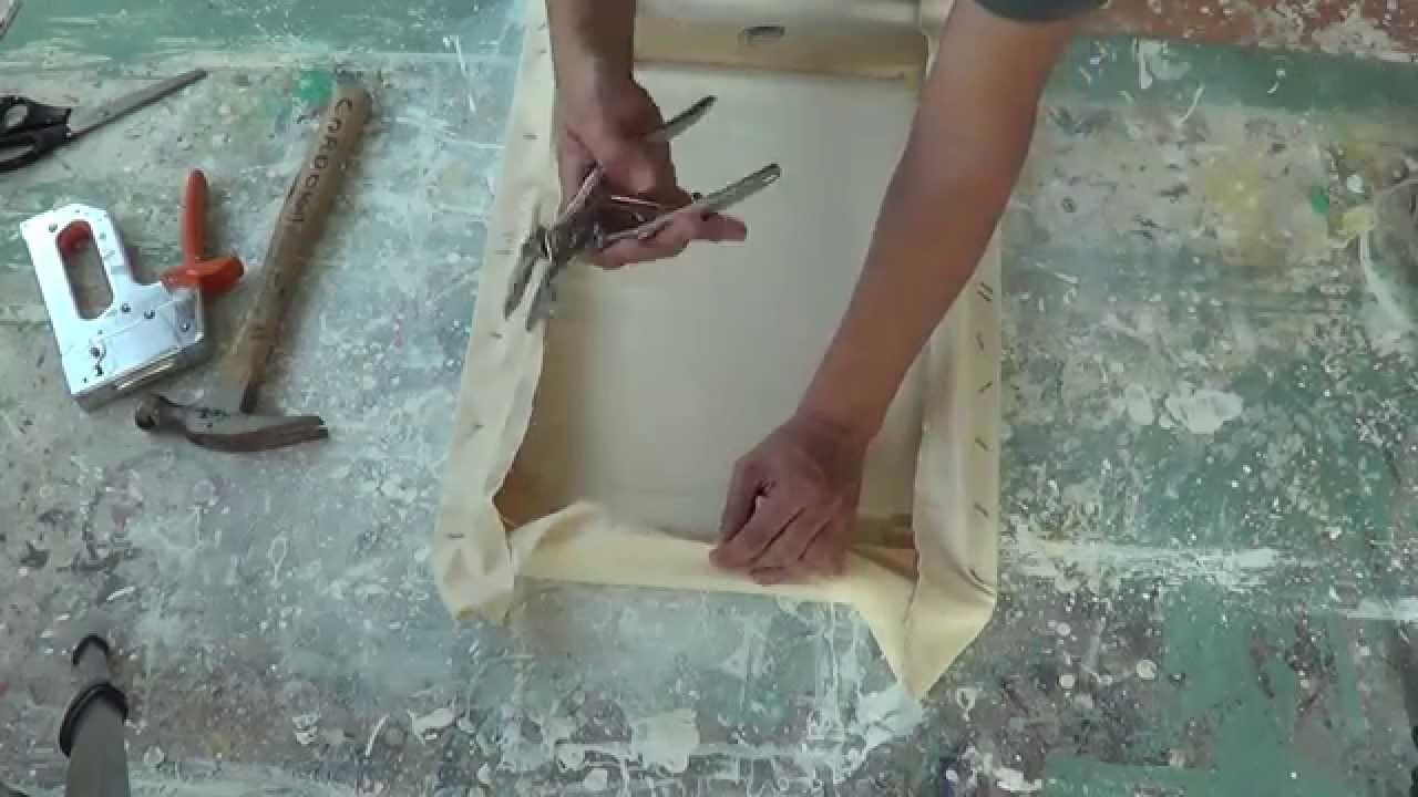 Imprimatura de lienzo para pintar con leo o acr lico - Pintar en lienzo para principiantes ...