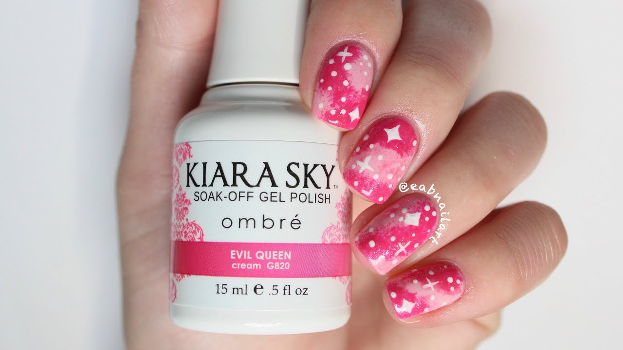 Pink Galaxy Gel Nail Art - YouTube