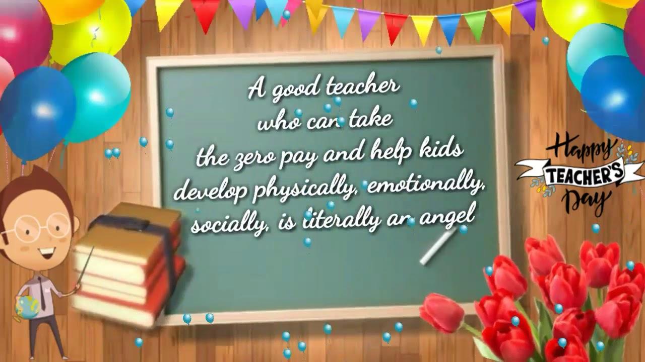 Teachers Day 9  Happy Teachers Day Whatsapp Wishes  Teachers Day  Quotes  Renu