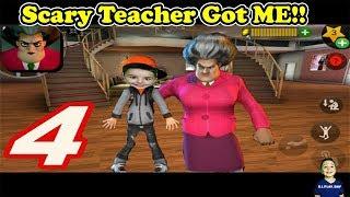 Scary Teacher 3D | The Hello Neighbors Sister! She got me! Dj_play_day