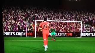 Glorious Lionel Messi trick Golazo on FIFA 15 Demo