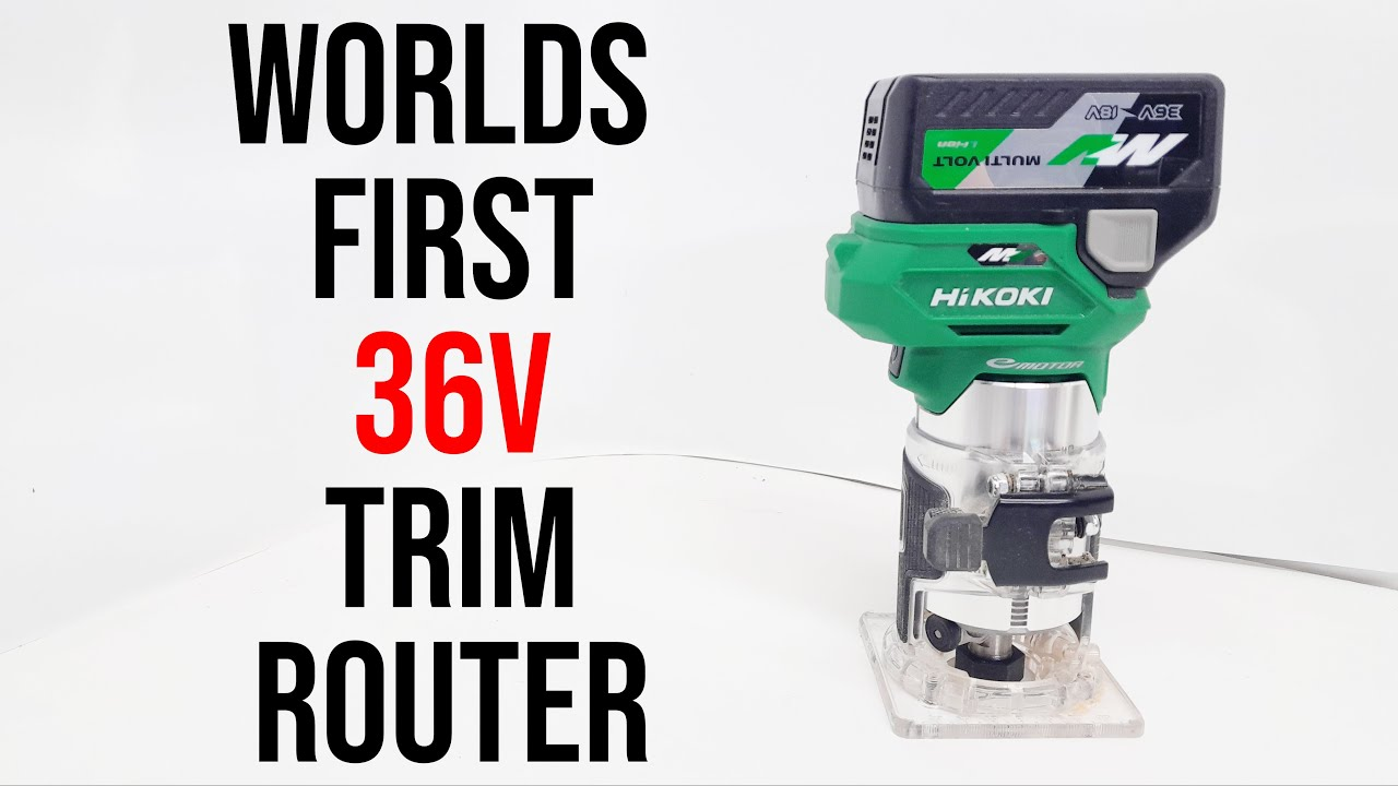 """HiKOKI 36v Trim Router from JAPAN     Is the 36v Trim Router BETTER than the 36v 1/2"""" Plunge Router?"""