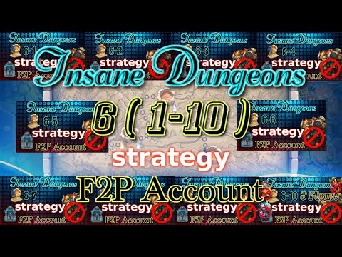 Castle Clash Insane Dungeon 6 (1-10)_ Strategy_F2P Account