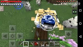 Minecraft pe - O mundo de JoaoGamer # 3 (começando a construir a casa)