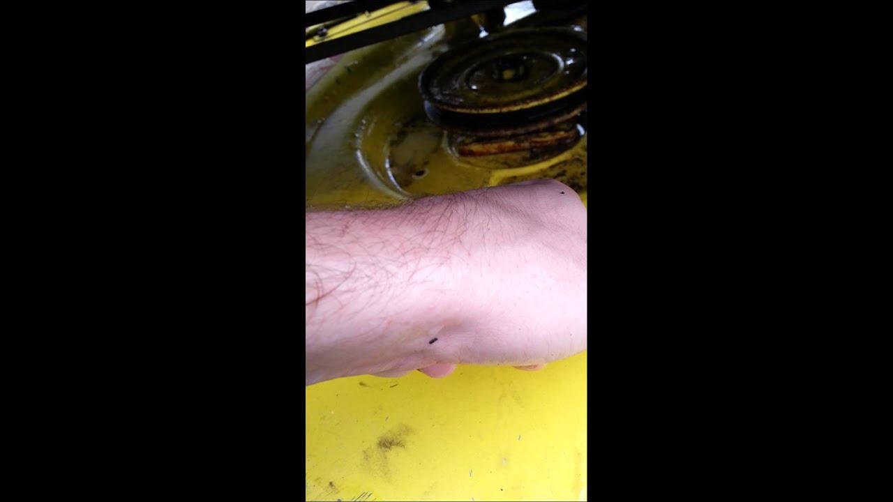 John Deere 108 Belt routing - YouTube