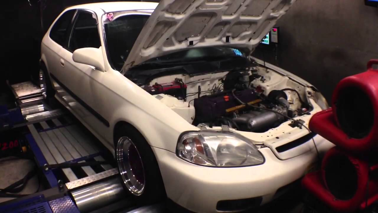 Turbo GSR on Pump & Stock K20a2 swapped Civic EK