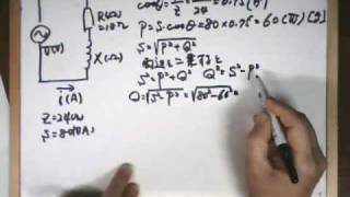 R-L series AC circuit vector explanation An exercise