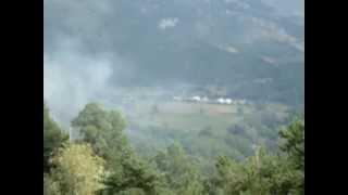 Les Alpes,un feu en Provence dans la montagne, 2010