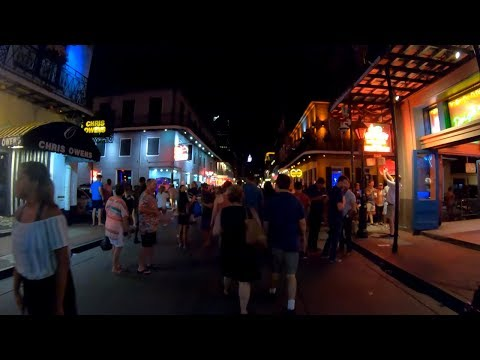 ⁴ᴷ⁶⁰ Walking New Orleans : Bourbon Street, French Quarter on Friday Night (Wild Street Parties!)