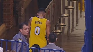 Kyle Kuzma Injury - Leaves Game After Hurting Hand! Thunder vs Lakers January 17, 2018