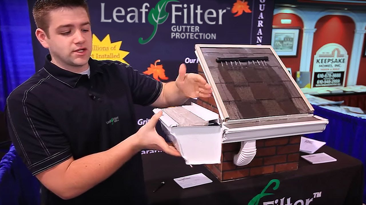 Leaffilter Gutter Protection Demonstration Leaffilter