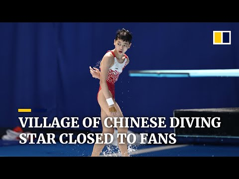 Chinese Olympic diving star, Quan Hongchan's village closed to hordes of fans amid Covid-19 worries