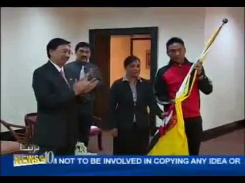 BRUNEI FLAG HANDING CEREMONY TO PBIM 2012 CONTINGENT