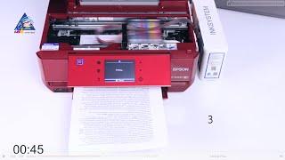 Epson Workforce WF-7610: тест на скорость печати текста. Режим \