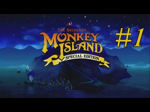 The Secret of Monkey Island (Special Edition) Walkthrough part 1(re-upload)