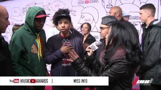 Miss Info interviews Odd Future at the 2013 YouTube Music Awards