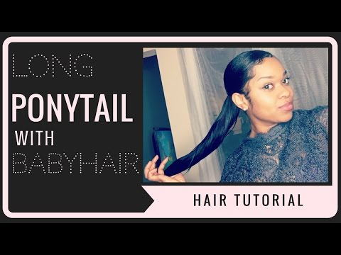 How to do a Long PonyTail With 8 Inch Hair