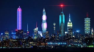 Download Video New York City of the Future, Spaceships Flying over Manhattan, NY MP3 3GP MP4