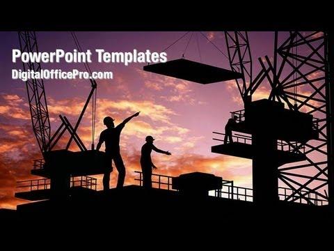 Construction Industry Powerpoint Template Backgrounds Digitalofficepro 05841w