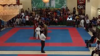 karate kumite final pra pemula putra 45 danrindam cup 2 kalimantan open turnamen