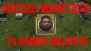 WAR COMMANDER - SIDDY3382's WEAVER TACTIC V's HIGHWAY ZEALOTS 90.. ...