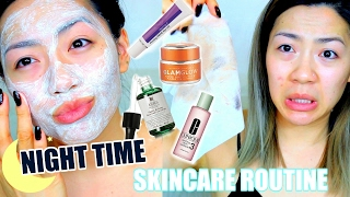 HOW I TREAT MY ACNE & FADE ACNE SCARS | Night Time Skincare Routine for Acne Prone Oily/Combo Skin