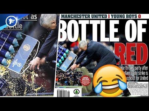le jet de bouteilles de jos mourinho amuse les anglais revue de presse youtube. Black Bedroom Furniture Sets. Home Design Ideas