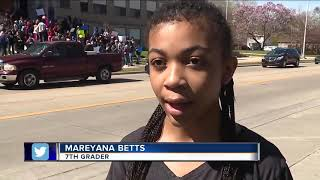 Students protest after principal not retained by Mt. Clemens High School