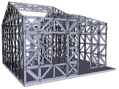 Konstruksi Baja Ringan Rumah Minimalis Dinding Desain 2019