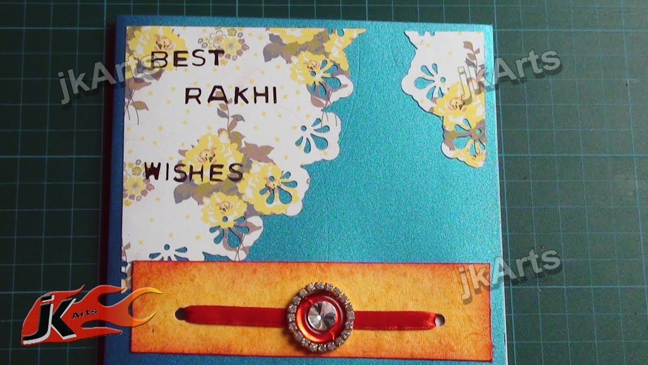 image about Rakhi Cards Printable known as Do it yourself Greeting Card for Raksha Bandan How towards deliver JK Arts 309