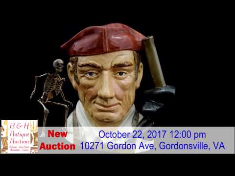 Antique Auction Oct 22, 2017 12 00 pm @ 10271 Gordon Ave, Gordonsville,Va
