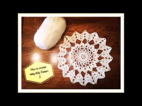 How To Crochet Easy Doily Pattern 2 Youtube