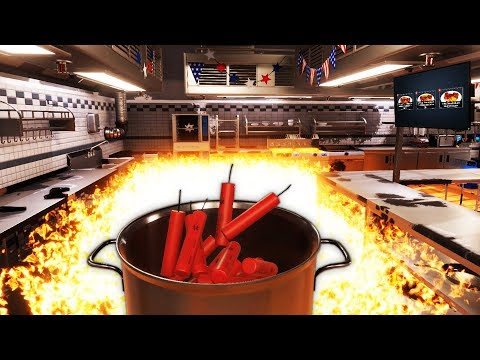 I'm a Lunatic Chef That Cooks Food Using Explosives - Cooking Simulator Update